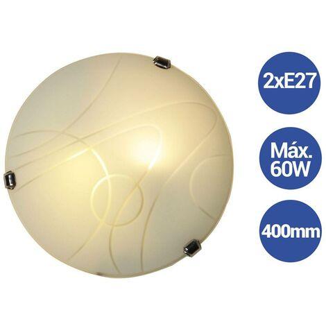 """Aplique de cristal moderno Ø400mm VETRO """"Luna Piena"""" 2xE27"""