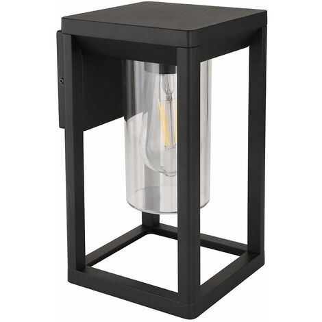 Aplique de exterior jardín terraza foco marco lámpara cuadrado negro-mate Globo 3135W