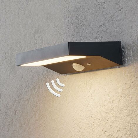 Aplique de exterior LED solar Maresia con sensor