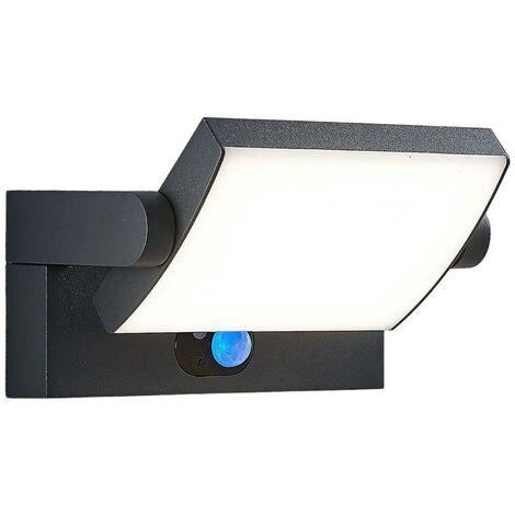Aplique de exterior LED solar Sherin con sensor