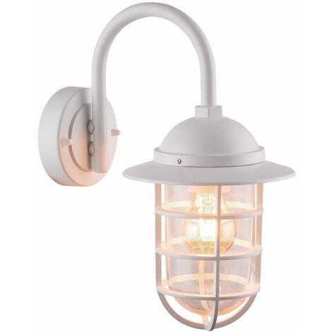 Aplique de faro de pared exterior ALU Aplique de faro de cristal de iluminación Fachadas blancas de luz Globo 31839W