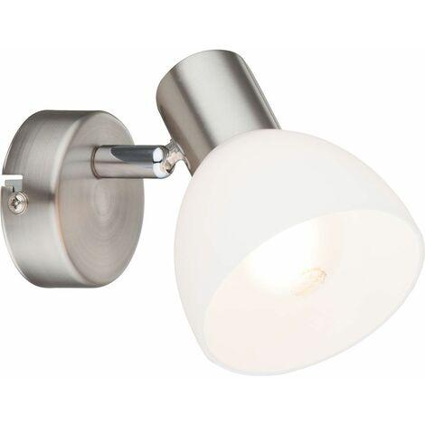 Aplique de pared ajustable para sala de trabajo, punto de vidrio DIMMABLE en conjunto que incluye bombillas LED RGB