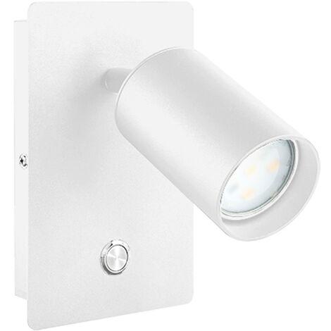 Aplique de pared blanco GU10 de aluminio con interruptor (F-Bright 2076002)