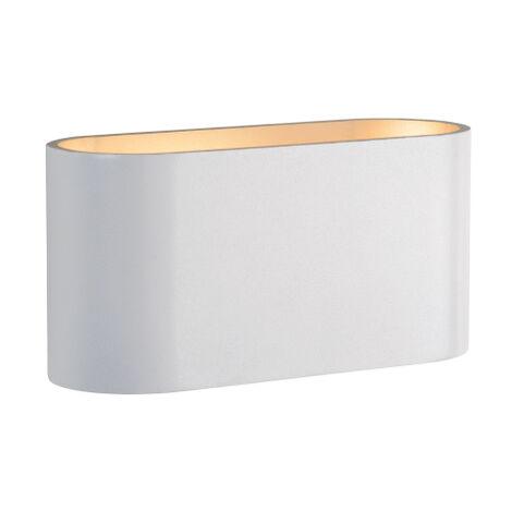 Aplique de pared blanco oval de aluminio G9 Squalla (Spectrum SLIP006001)