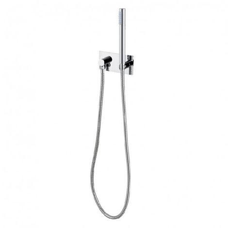 Aplique de pared con soporte de ducha CZT050B - incluye ducha de mano y manguera
