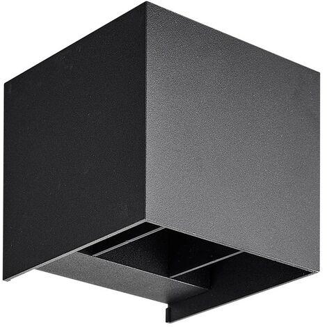 Aplique de pared cuadrado PALMA Outdoor Double Beams COB 2x3W IP65   Temperatura de color: Blanco cálido 3000K