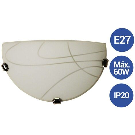 "Aplique de pared de cristal de diseño VETRO ""Mezza Luna"" E27"