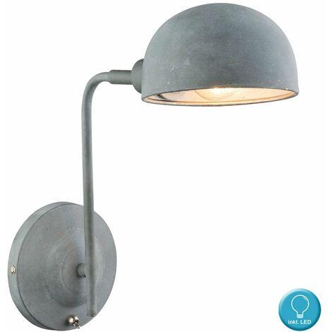 Aplique de pared dormitorio de la sala foco lámpara ajustable colores concretos en el conjunto incluyendo bombillas LED