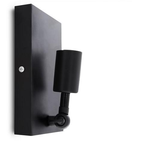Aplique de Pared E27 Negro (Sin Lámpara) Nora [HO-E27WALLLIGHT-H-B]   Sin Bombilla/Ver Accesorios (HO-E27WALLLIGHT-H-B)
