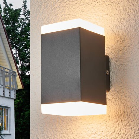 Aplique de pared exterior LED Hedda angular