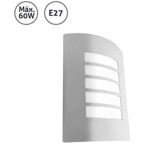 Aplique de pared exterior lineal aluminio 60WE27