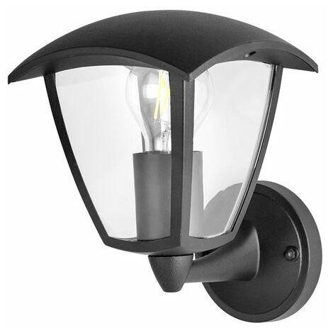 Aplique de Pared Farol Negro para Exterior Jardín 1XE27 IP44 Negro | IluminaShop