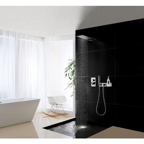 Aplique de pared fijo y soporte CZT050-1 con flexo y ducha de mano.