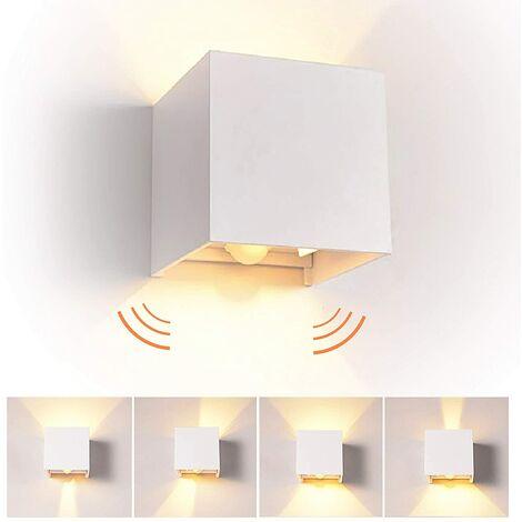 Aplique de pared Interior Moderna Lámpara de Esquina para sala de estar dormitorio baño cocina yrestaurante, (Blanco)cálido (Blanco)