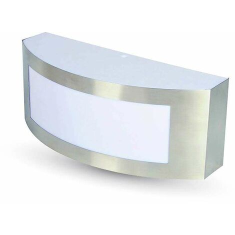 Aplique de pared Kiubic para bombilla LED E27 IP44 Acero inoxidable