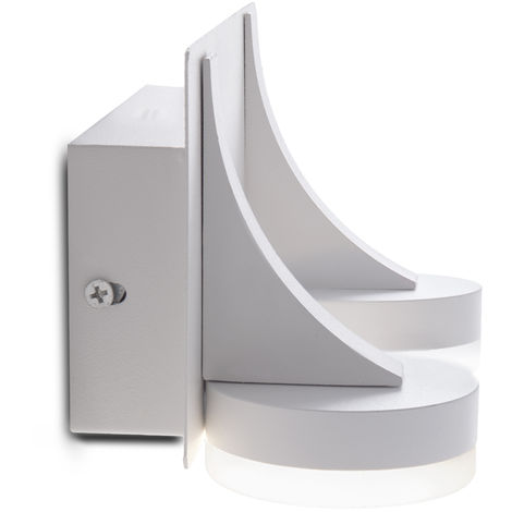 Aplique de Pared LED 2X5W 1000Lm Blanco Ava