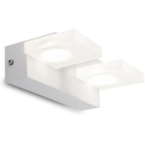 Aplique de Pared LED 2X5W 1000Lm Blanco Isabella [HO-WL-102-2x5W-W-W]