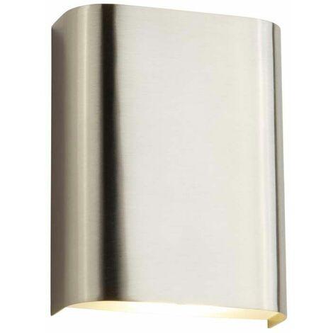Aplique de pared Led 4W plata satinado Con cristal satinado 3000K 420 lúmenes acrílico helado