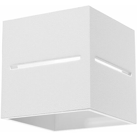 Aplique de pared LED interior iluminación de pared blanca moderna foco de pared indirecto lámpara arriba abajo escalera, aluminio, 1x LED 4W 400lm, L xH 10x12 cm
