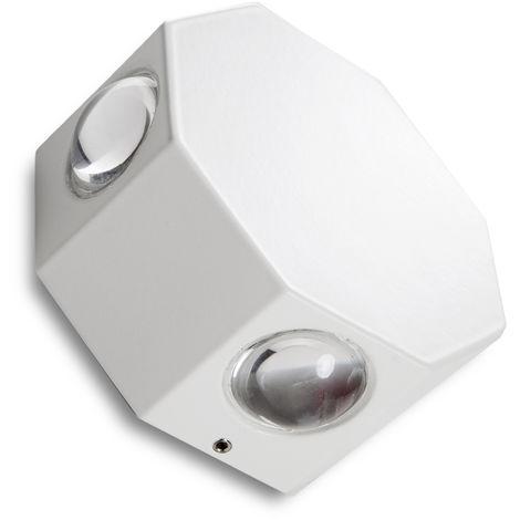 Aplique de Pared LED IP65 4X1W RGBw 30.000H Caroline (TH-821-RGBW)