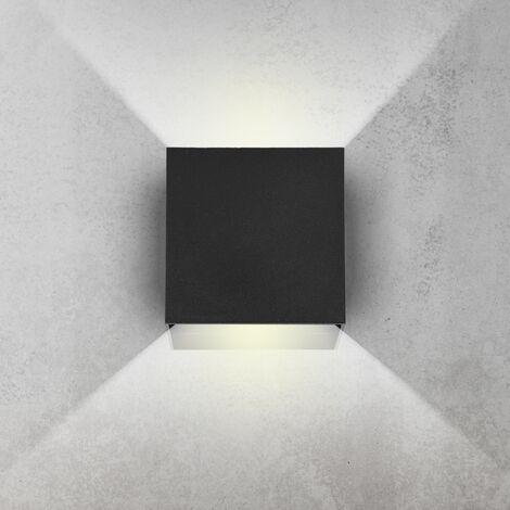 Aplique de pared LED moderna foco lámpara iluminación interior 6W blanco neutro