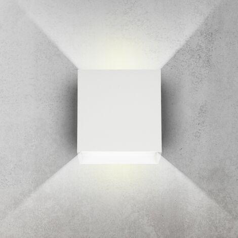Aplique de pared LED moderna luz lámpara iluminación interior 6W color blanco
