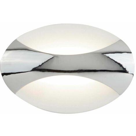 Aplique de pared Led ovalado 6,5W, cromo / blanco arena 3000K 230 lúmenes cromo / blanco arena