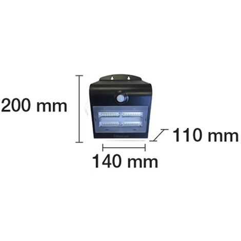 Aplique de pared LED solar con sensor Line (3,2W)