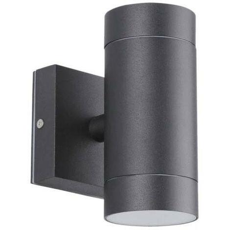 Aplique de pared negro VENICE Outdoor doble haz GU10 IP54