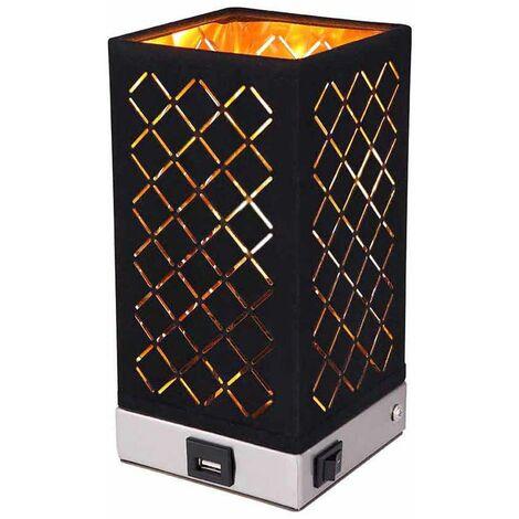 Aplique de pared níquel claro textil mate oro negro perforaciones decorativas conexión USB