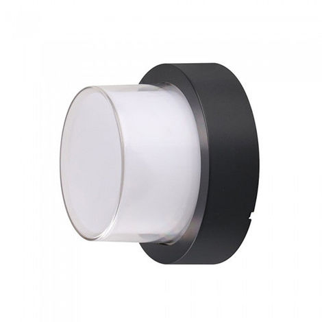 Aplique de pared Serie Natural circular 12W 158° IP65 Negro