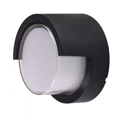 Aplique de pared Serie Natural UP circular 12W 128° IP65 Negro