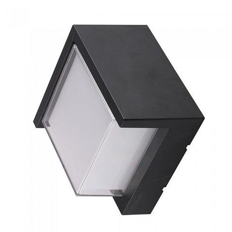 Aplique de pared Serie Natural UP cuadrado 12W 128° IP65 Negro