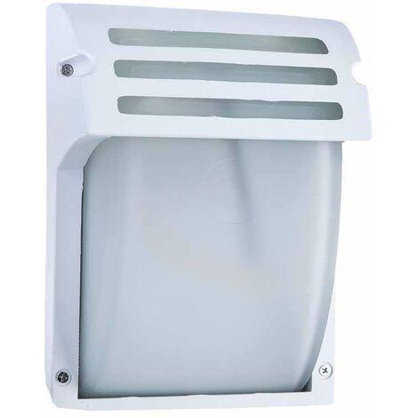 Aplique de pared Sidney para bombilla LED E27 IP44 Blanco