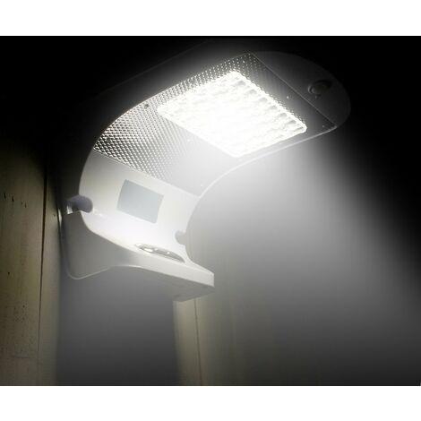 Aplique de pared solar LED detector presencia lampara jardin externo REFLEX 28 Led