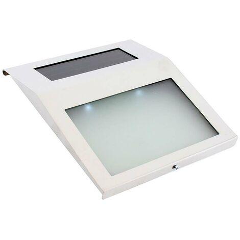 Aplique de pared Solar WALL INOX, Blanco frío
