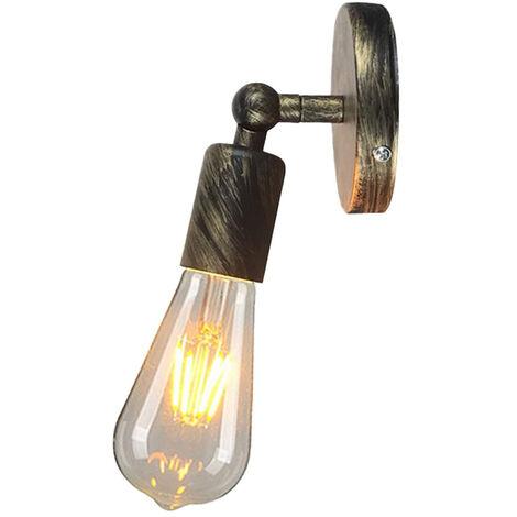 Aplique de pared vintage industrial simple Luce de pared Ajustable E27 Socket para casa bar restaurante ?oro?