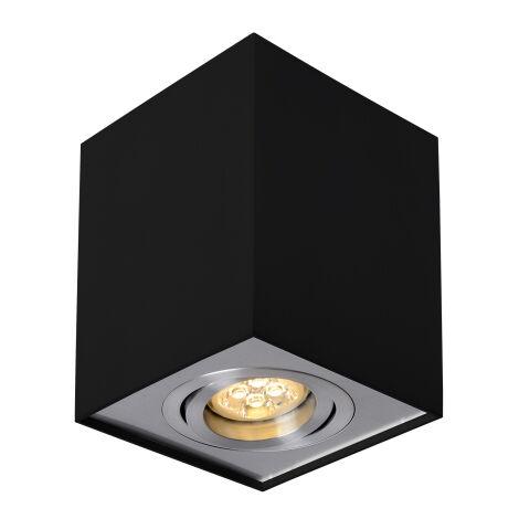 Aplique de techo cuadrado modelo Chloe negro cuadrado GU10 96x96mm. (Spectrum SLIP004006)