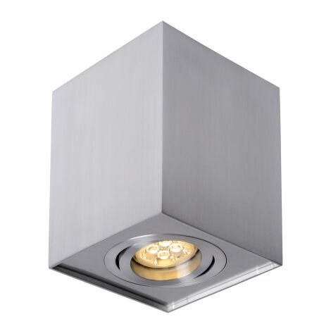 Aplique de techo cuadrado modelo Chloe níquel cuadrado GU10 96x96mm. (Spectrum SLIP004004)