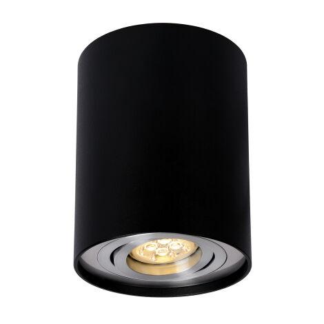 Aplique de techo redondo modelo Chloe negro redondo GU10 ø96x125mm. (Spectrum SLIP004003)
