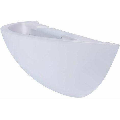 Aplique de yeso Aplique Aplique LED para interior Aplique para pasillo con iluminación indirecta de pared, blanco brillante hacia arriba, 1x LED 500 lúmenes blanco cálido, An x P 30x7,5 cm, escalera