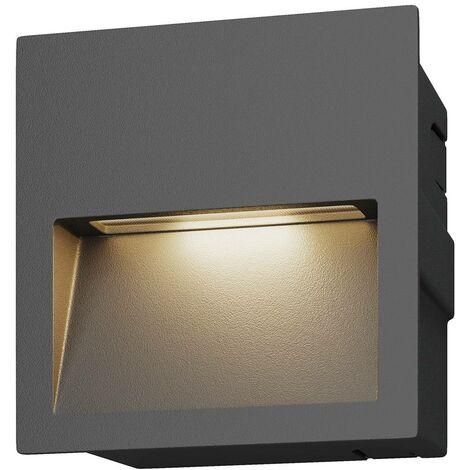 Aplique empotrable LED Loya cuadrado, de exterior