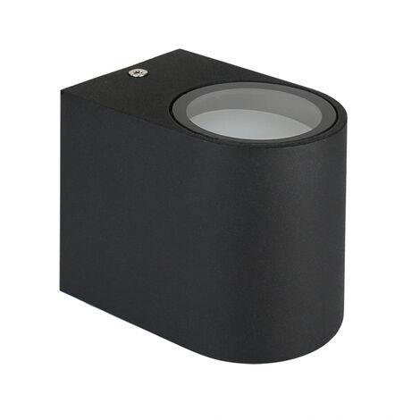Aplique estanco negro de aluminio 1xGU10 IP54 (Spectrum SLIP007001)