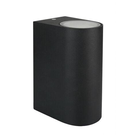 Aplique estanco negro de aluminio 2xGU10 IP54 (Spectrum SLIP007002)