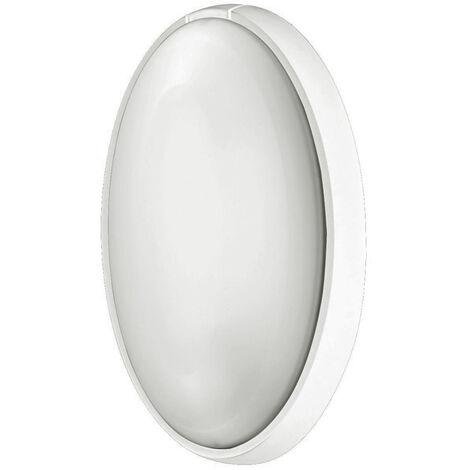 Aplique estanco oval blanco E27 186x316x105mm. (Fenoplástica 7400B)