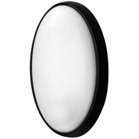 Aplique estanco oval negro E27 186x316x105mm. (Fenoplástica 7400M)