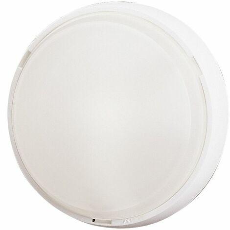 Aplique estanco redondo blanco E27 260x105mm. (Fenoplástica 7100B)