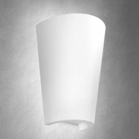 Aplique exterior blanco forma de Teja