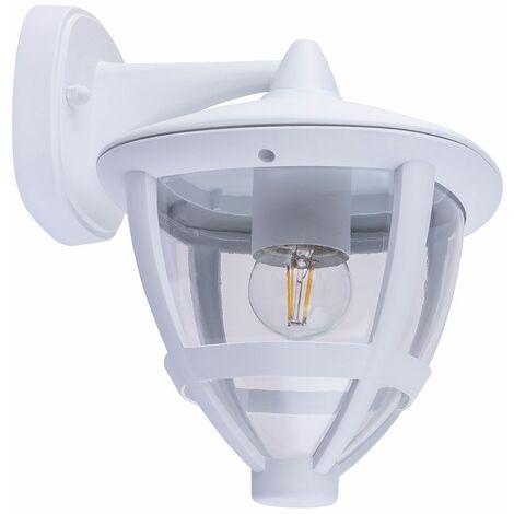 Aplique exterior Lámpara de patio con linterna ALU Aplicación de Google DIMMABLE en un conjunto con iluminación LED RGB
