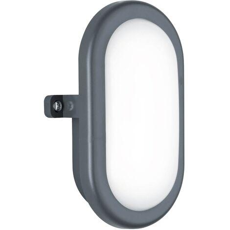 APLIQUE EXTERIOR LED CAMERON 5.5W OVAL NEGRO